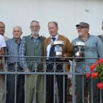 Trivellato con i vincitori del Trofeo (da sx Bolcato - Mosele - Scomazzon - Conzato)